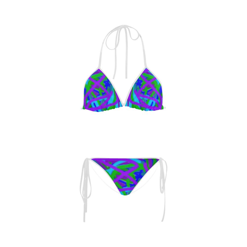 Peacock blues, greens and purples bikini