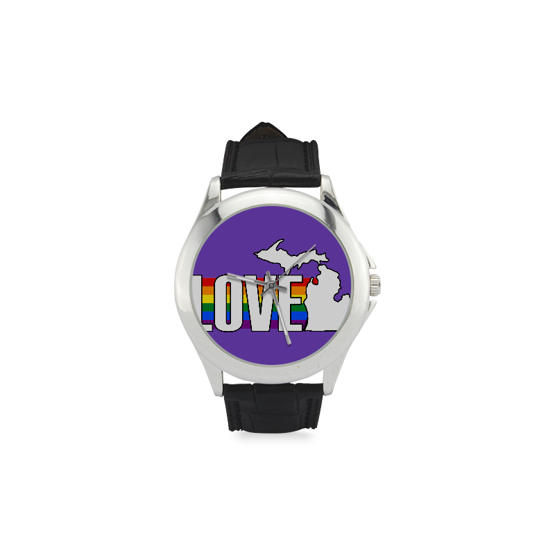 Gay Pride Love Michigan Watch w/Purple Face
