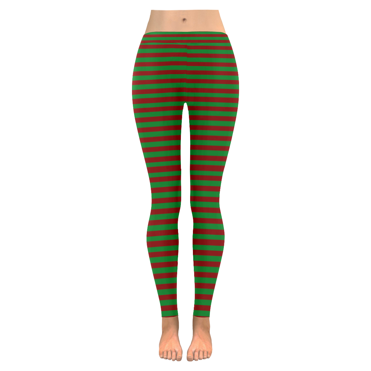 Christmas Stripes Green and Red