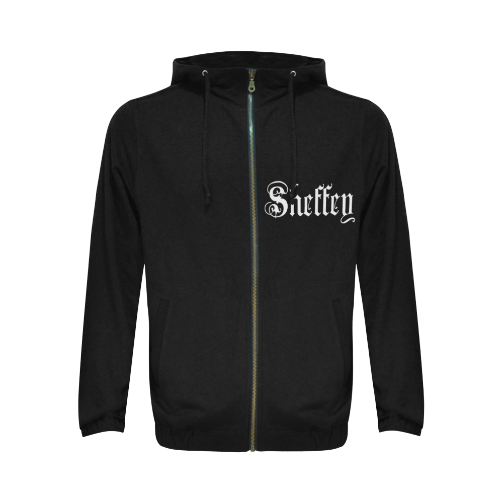 Sheffey - White Text on Black 1658 Logo