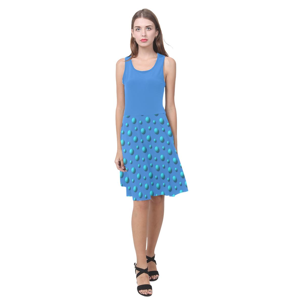Terrific Turquoise Polka Dots on Beautiful Blue