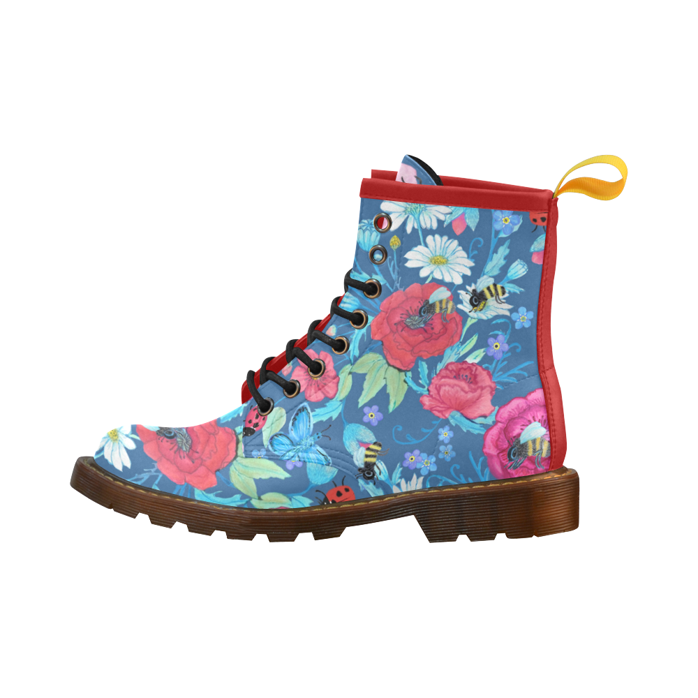 Save The Bees Floral vegan DM style boot