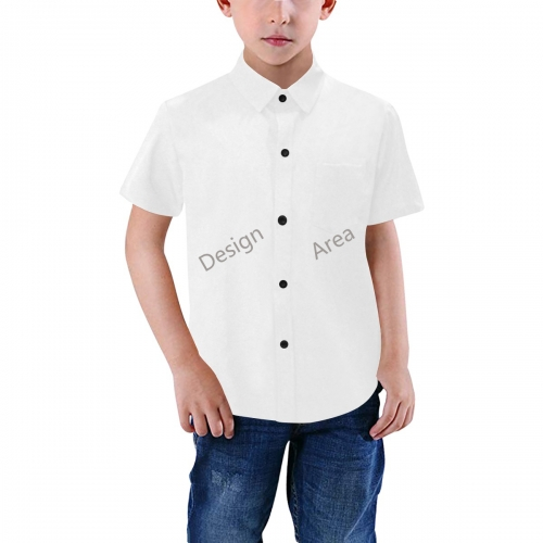Boys' All Over Print Short Sleeve Shirt (Model T59)