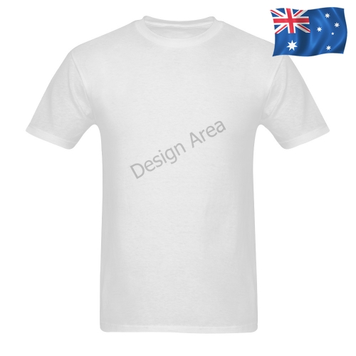 Men's T-shirt in USA Size (Two Sides Printing) (Model T02)