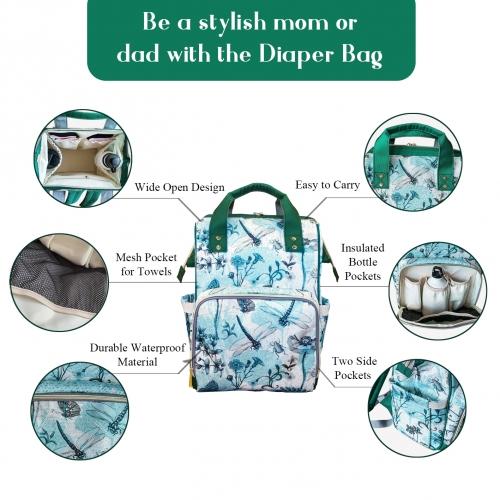 Multi-Function Diaper Backpack/Diaper Bag (Model 1688)