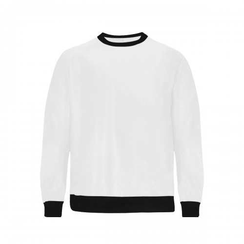 Men's Rib Cuff Crew Neck Sweatshirt (Model H34)