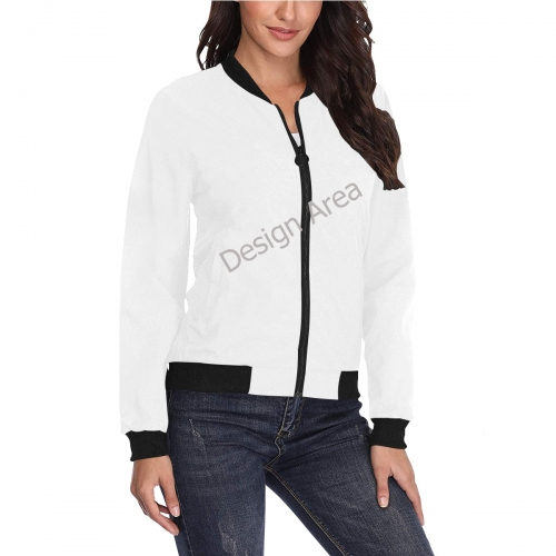 All Over Print Bomber Jacket for Women (Model H36)