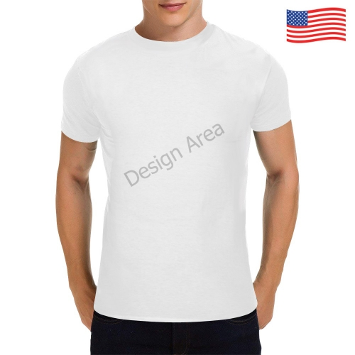 Men's Heavy Cotton T-Shirt/Large (White-One Side Printing)
