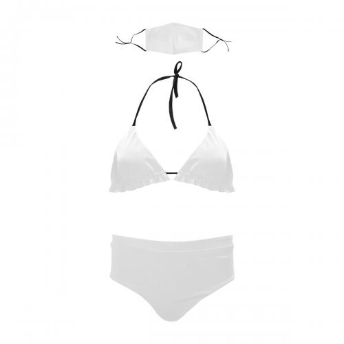 Stringy Selvedge Bikini Set with Mouth Mask (S11)