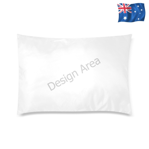 "Custom Zippered Pillow Case 20""x30"" (one side)"
