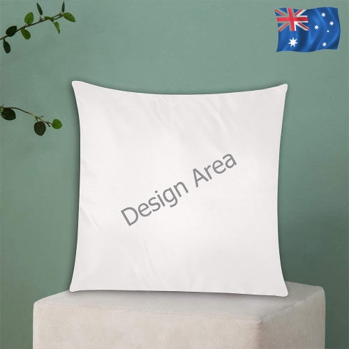 """Custom Zippered Pillow Cases 18""""x18"""" (Two Sides)"""