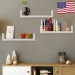 Set of 3 Floating Display Shelves Ledge Bookshelf Wall Mount Storage Home Décor - White