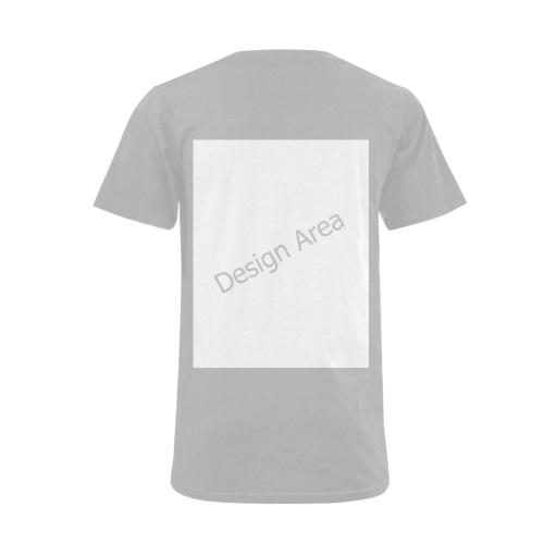 Men's V-Neck T-shirt  Big Size(USA Size) (Model T10)