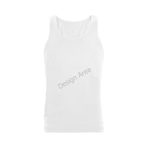 Plus-size Men's Shoulder-Free Tank Top (Model T33)