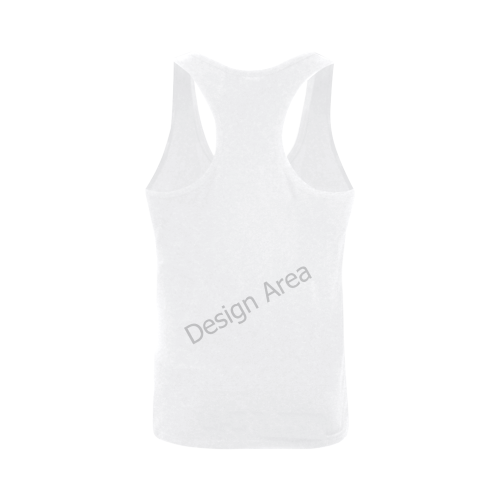 Plus-size Men's I-shaped Tank Top (Model T32)