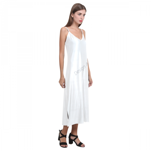V-Neck Open Fork Long Dress(Model D18)