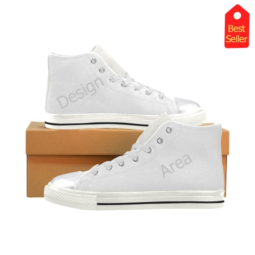 High Top Canvas Women's Shoes/Large Size (Model 017)