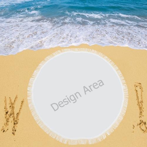 "Circular Beach Shawl 59""x 59"""