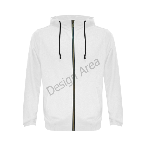 All Over Print Full Zip Hoodie for Men (Model H14)