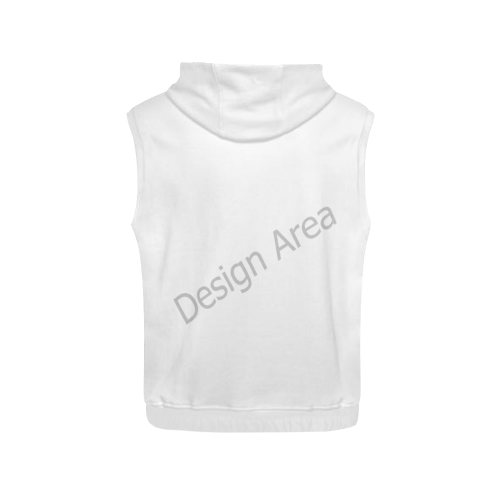 All Over Print Sleeveless Hoodie for Women (Model H15)