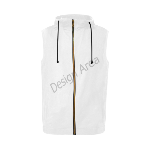 All Over Print Sleeveless Zip Up Hoodie for Men (Model H16)