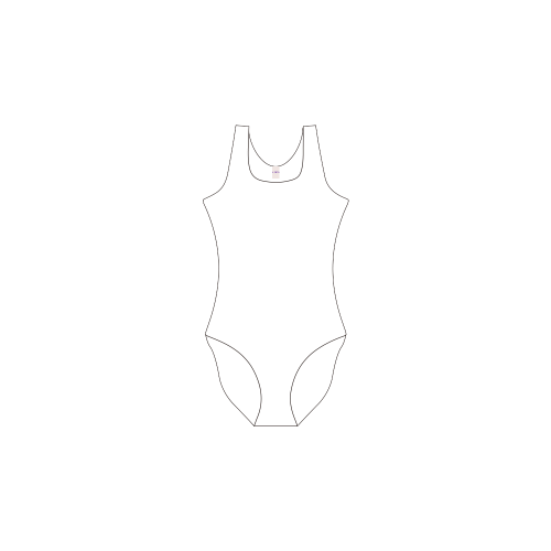 Private Brand Tag on Women's One Piece Swimsuit (3cm X 5cm)