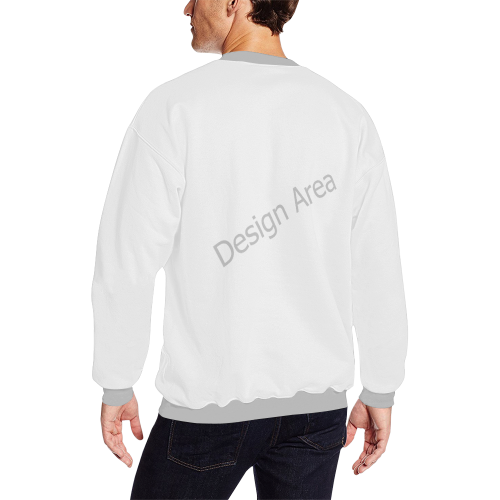 All Over Print Crewneck Sweatshirt for Men (Model H18)