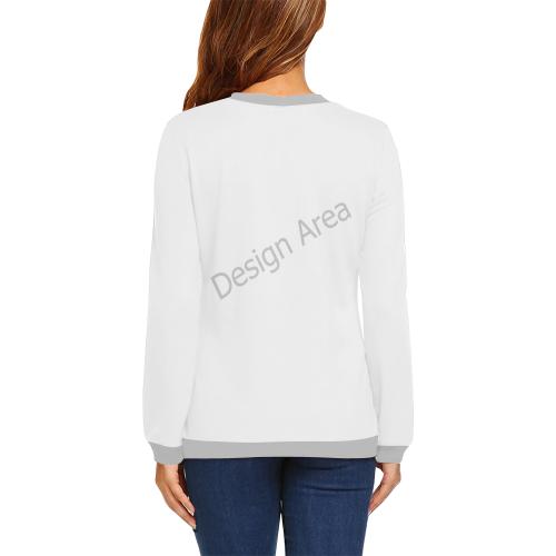 All Over Print Crewneck Sweatshirt for Women (Model H18)