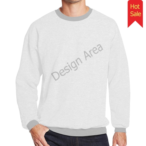 Men's Oversized Fleece Crew Sweatshirt (Model H18)