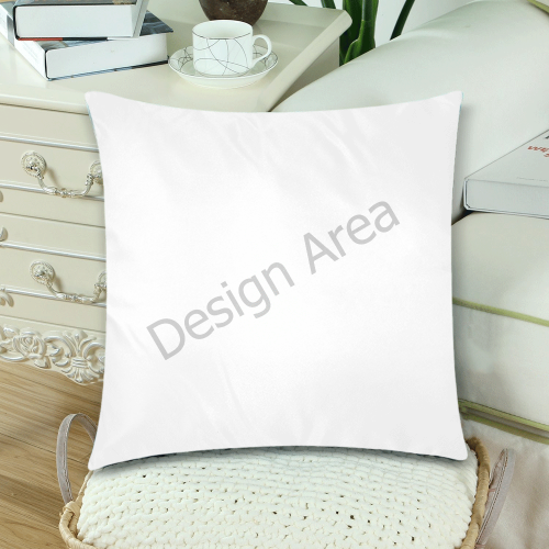 "Custom Zippered Pillow Cases 18""x 18"" (Twin Sides) (Set of 2)"