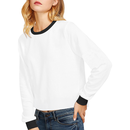 Crop Pullover Sweatshirts for Women (Model H20)