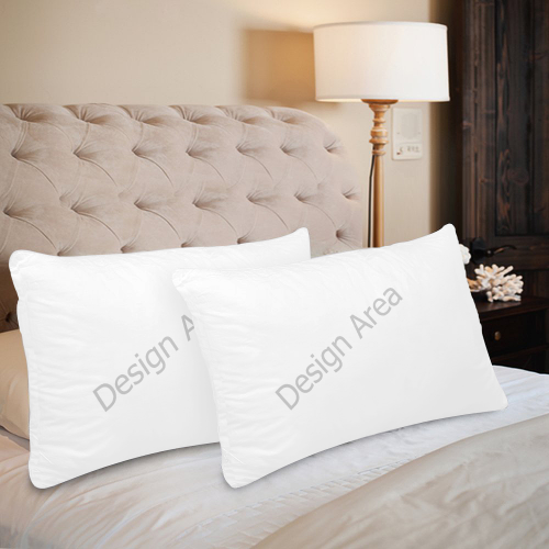 "Custom Pillow Case 20""x 30"" (One Side) (Set of 2)"