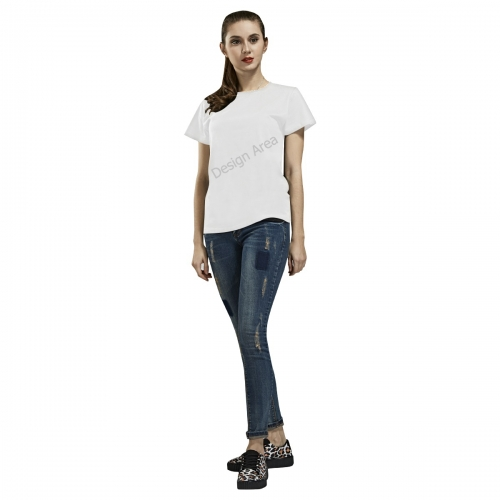 All Over Print T-shirt for Women/Large Size (USA Size) (Model T40)