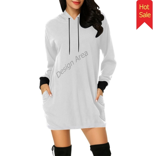 All Over Print Hoodie Mini Dress (Model H27)