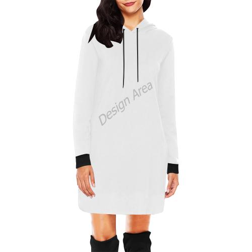 All Over Print Hoodie Mini Dress (Model H27)