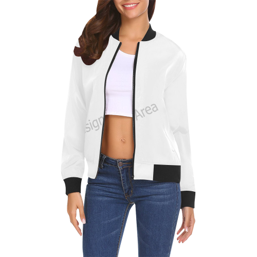 All Over Print Bomber Jacket for Women (Model H19)