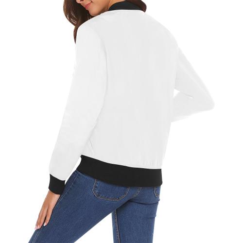 All Over Print Bomber Jacket for Women (Model H19)