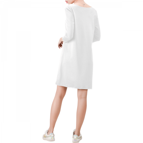 Deep V Three-Quarter Sleeve Dress (Model D48)