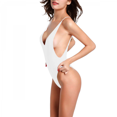 Sexy Low Back One-Piece Swimsuit (Model S09)