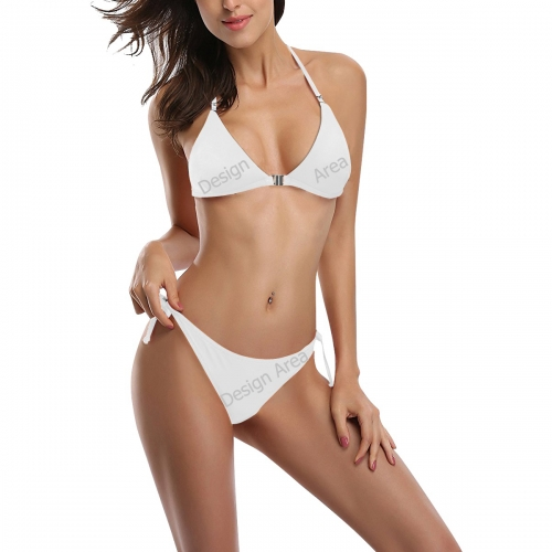 Buckle Front Halter Bikini Swimsuit (Model S08)
