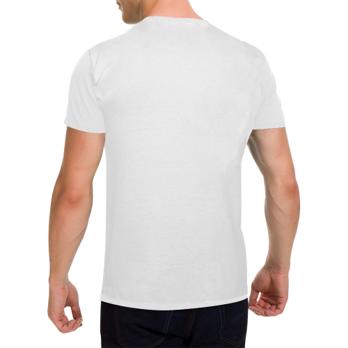 Men's Heavy Cotton T-Shirt (White-One Side Printing)