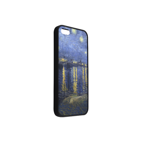 Blue Sky Golden Stars Reflection In The Water paint Rubber Case for iPhone 5/5s