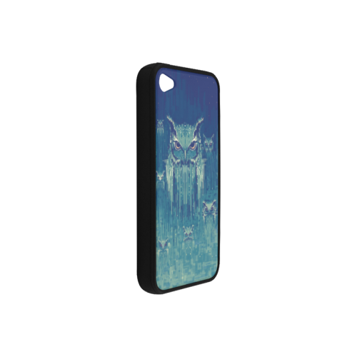 Blue Owls Rubber Case for iPhone 4/4s