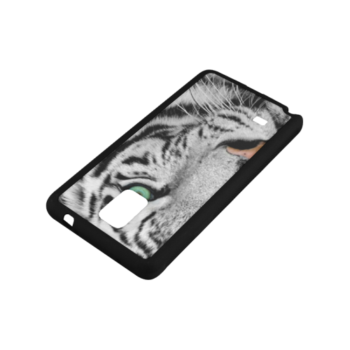 White And Black Tiger Rubber Case for Samsung Galaxy Note 4