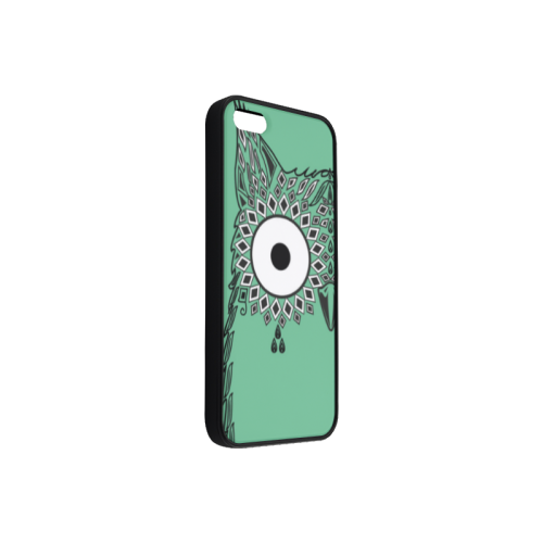 Abstract Cute Owl Eye Rubber Case for iPhone 5/5s