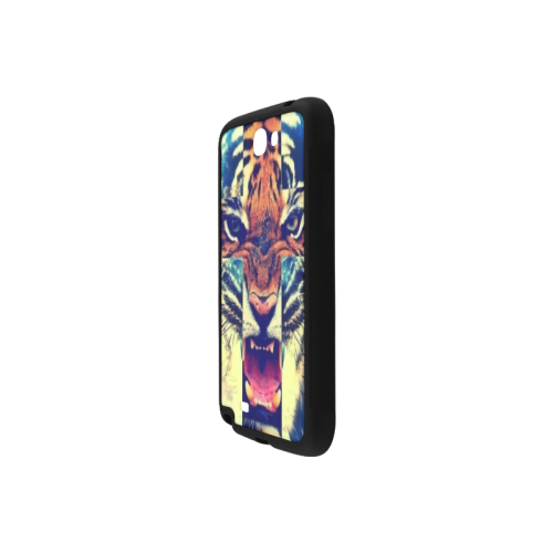 Tiger Head Cross Pattern Rubber Case for Samsung Galaxy Note 2