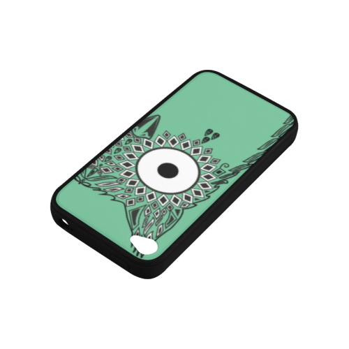 Abstract Cute Owl Eye Rubber Case for iPhone 4/4s