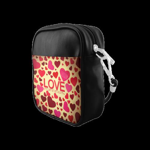 Love Elegant Pattern Sling Bag (Model 1627)