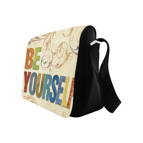 Be Yourself Pictures Messenger Bag (Model 1628)