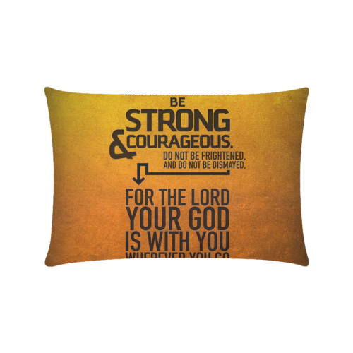 "Bible Verses Joshua Custom Zippered Pillow Cases 16""x24""(Twin Sides)"